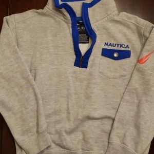 Boys NAUTICA grey and blue pullover